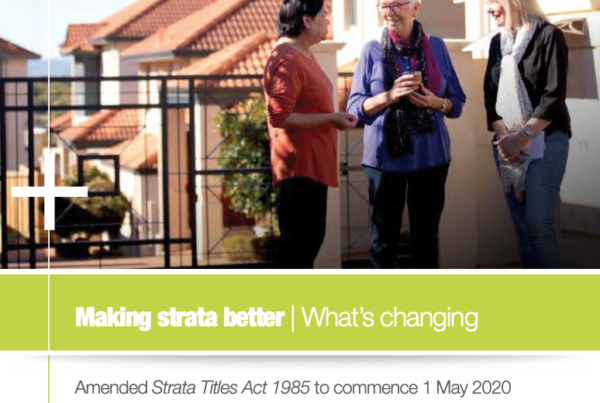 Making Strata Better What Changing
